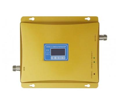 Усилитель связи репитер GSM 1800 / 3G 2100 МГц до 300м² с дисплеем