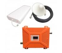 Усилитель репитер 3G 2100 / 4G 2600 МГц до 300м² с дисплеем