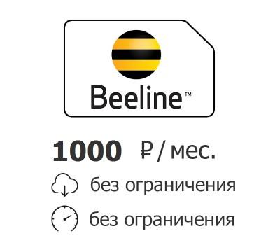 Билайн безлимитный интернет 1000 руб./мес.